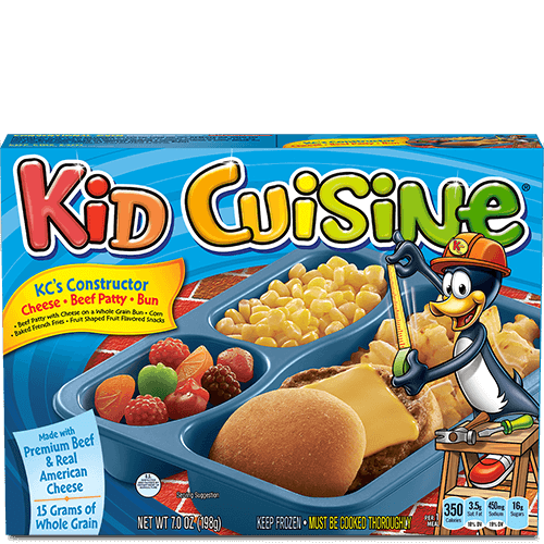 Beef patty with cheese bun kid cuisine for Are kid cuisine meals healthy