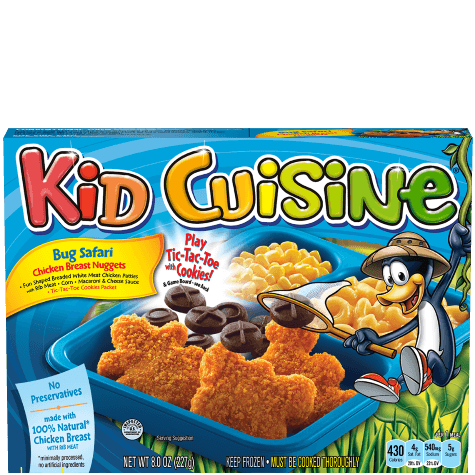Fun shaped chicken breast nuggets kid cuisine for Are kid cuisine meals healthy